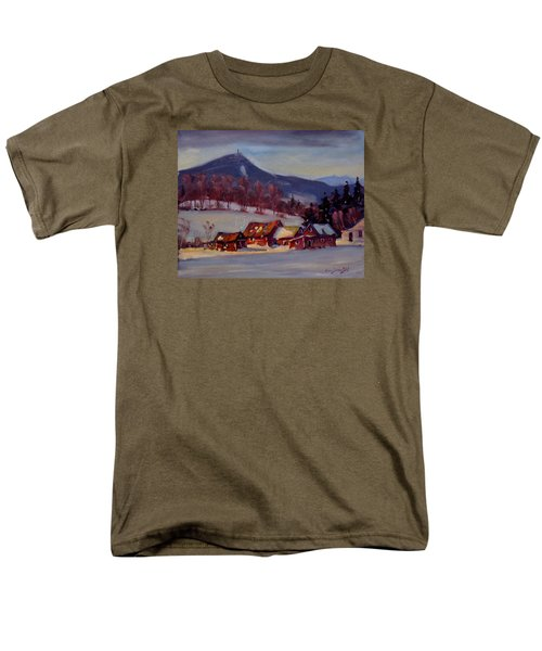 Men's T-Shirt  (Regular Fit) featuring the painting Jimmie's Place by Len Stomski