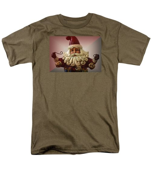 Men's T-Shirt  (Regular Fit) featuring the photograph Jingle Bell Santa by Nadalyn Larsen