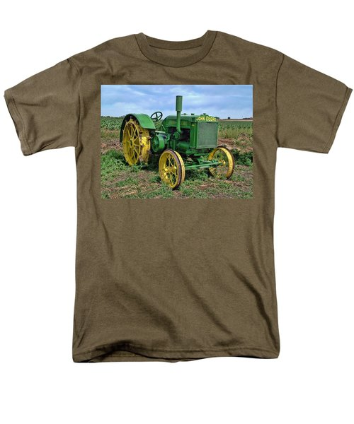 John Deere Tractor Hdr Men's T-Shirt  (Regular Fit) by Ken Smith