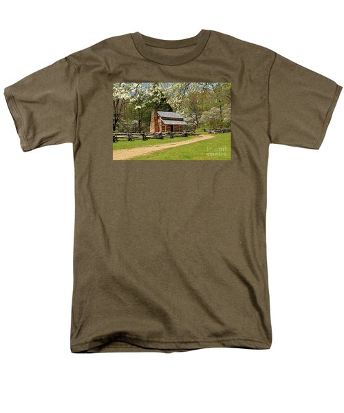 Men's T-Shirt  (Regular Fit) featuring the photograph John Oliver's Cabin by Geraldine DeBoer