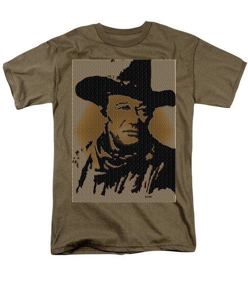 John Wayne Lives Men's T-Shirt  (Regular Fit) by Robert Margetts