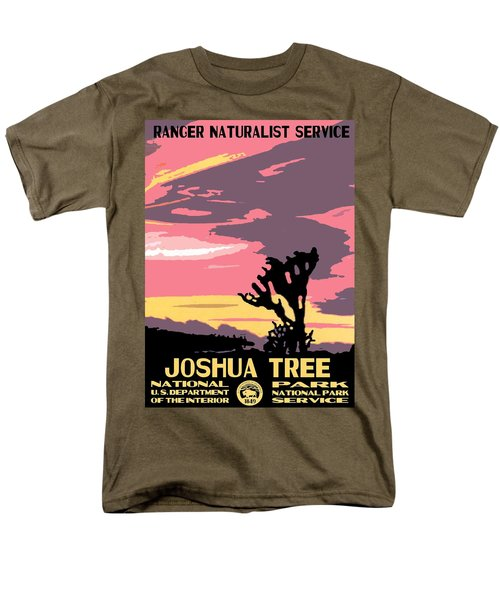 Joshua Tree National Park Vintage Poster Men's T-Shirt  (Regular Fit) by Eric Glaser