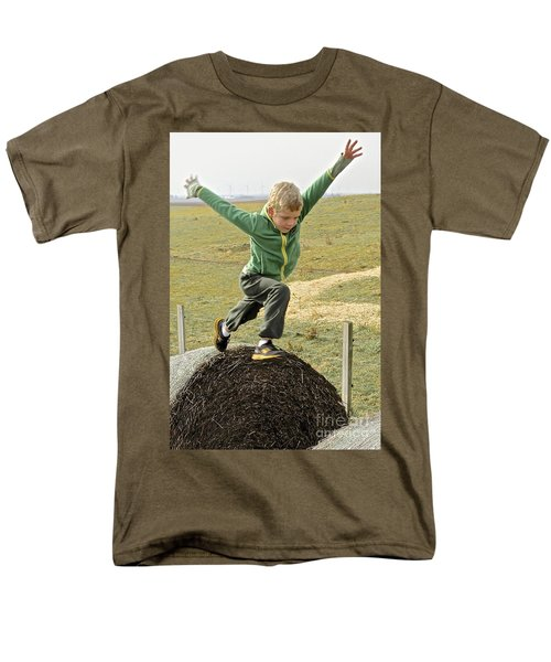 Jumping Haystacks Men's T-Shirt  (Regular Fit) by Suzanne Oesterling