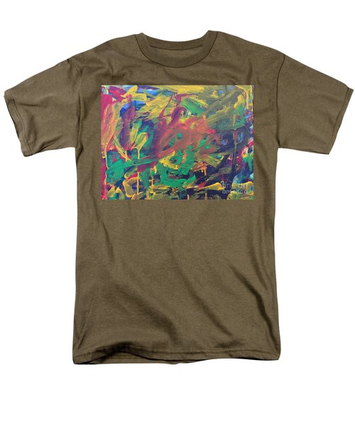 Men's T-Shirt  (Regular Fit) featuring the painting Jungle by Donald J Ryker III