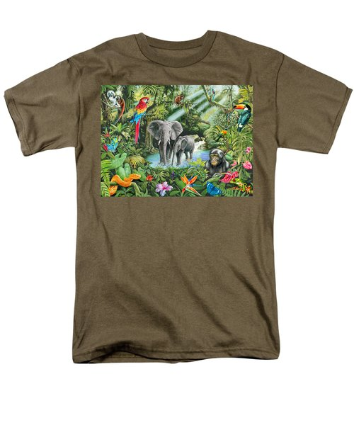 Jungle Men's T-Shirt  (Regular Fit) by Mark Gregory