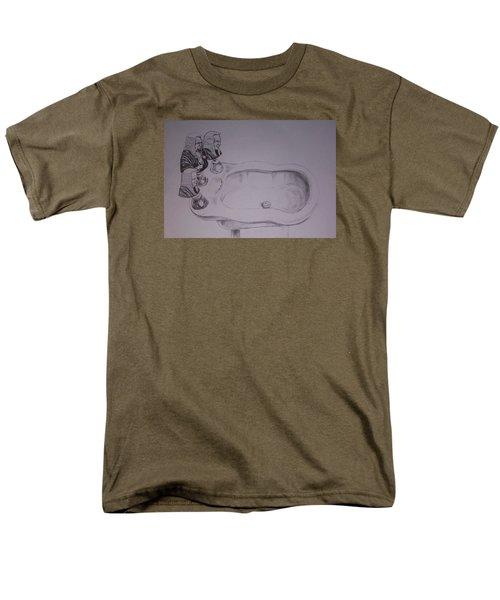 Men's T-Shirt  (Regular Fit) featuring the drawing Jurisbidencia by Lazaro Hurtado