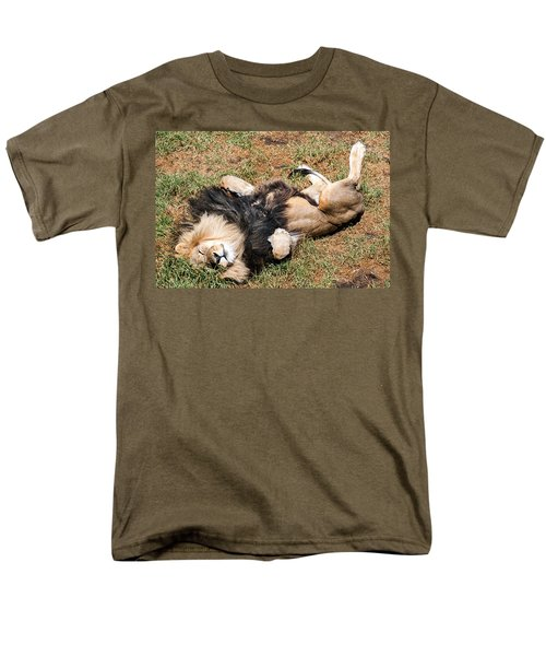 Just Lion Down Men's T-Shirt  (Regular Fit) by Ray Warren