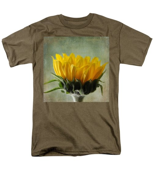 Just Opening Sunflower Men's T-Shirt  (Regular Fit) by Denyse Duhaime