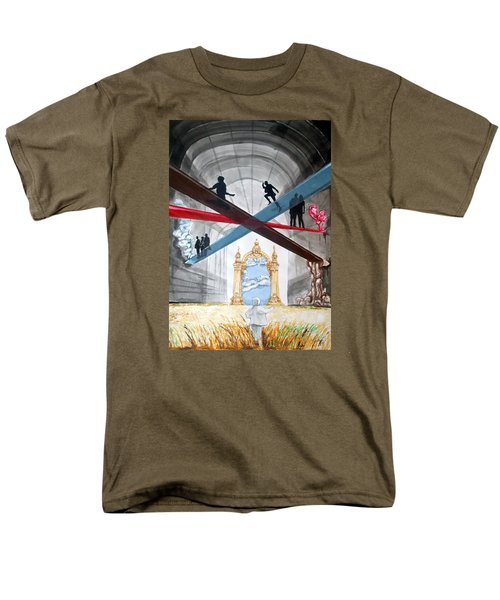 Men's T-Shirt  (Regular Fit) featuring the painting Just Paths  by Lazaro Hurtado