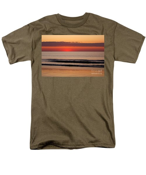 Men's T-Shirt  (Regular Fit) featuring the photograph Just Showing Up Along Hampton Beach by Eunice Miller