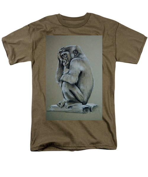 Just Thinking Men's T-Shirt  (Regular Fit) by Jean Cormier