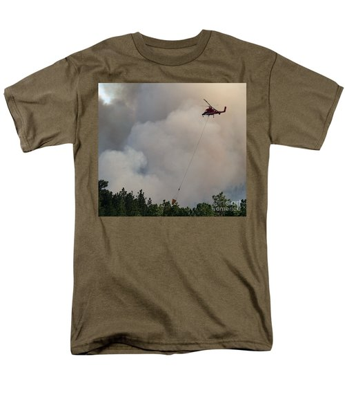 Men's T-Shirt  (Regular Fit) featuring the photograph K-max Helicopter On Myrtle Fire by Bill Gabbert