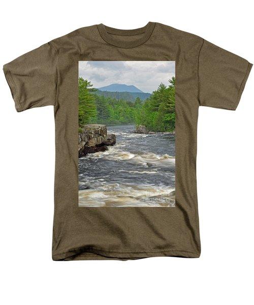 Katahdin And Penobscot River Men's T-Shirt  (Regular Fit) by Glenn Gordon