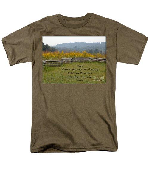 Keep Me Growing Men's T-Shirt  (Regular Fit) by Sara  Raber