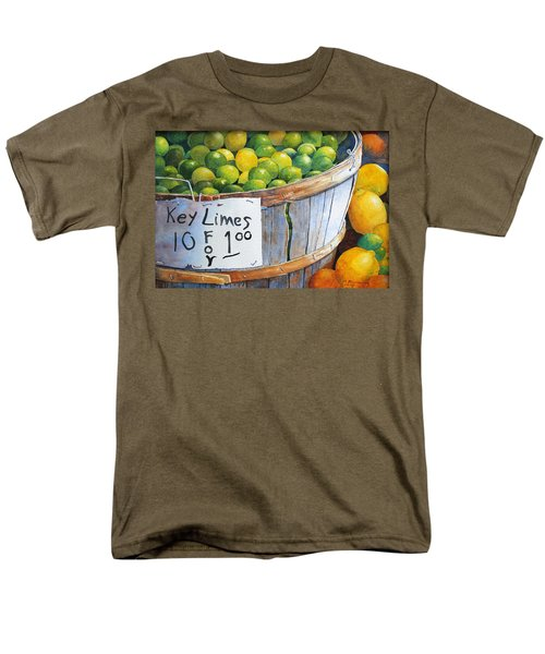 Men's T-Shirt  (Regular Fit) featuring the painting Key Limes Ten For A Dollar by Roger Rockefeller