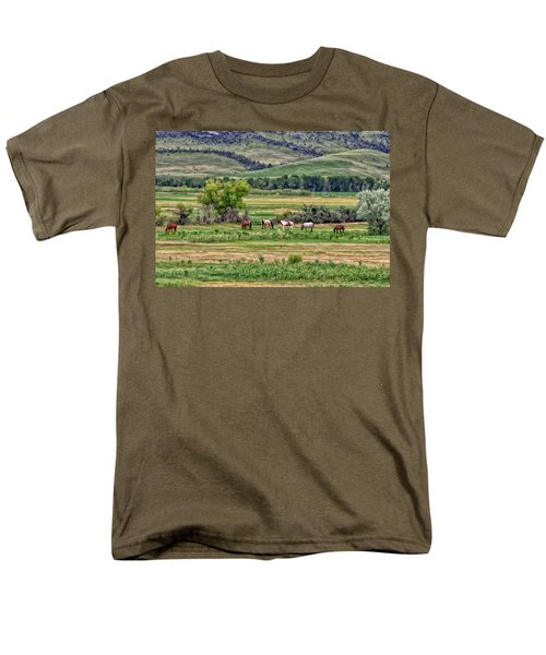 K G Ranch Men's T-Shirt  (Regular Fit) by Michael Pickett
