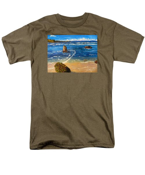 Men's T-Shirt  (Regular Fit) featuring the painting Kiama Beach by Pamela  Meredith