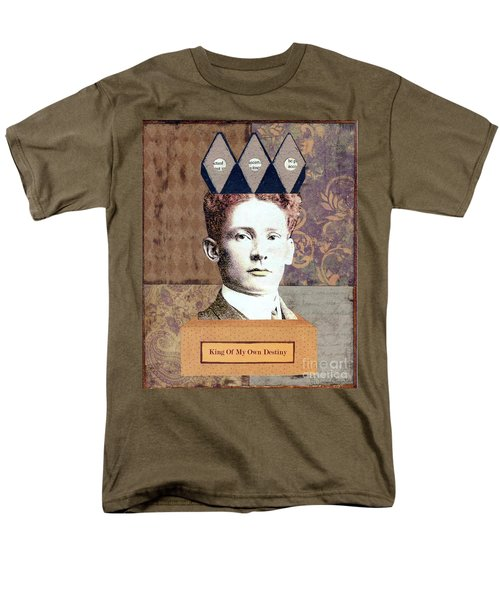 Men's T-Shirt  (Regular Fit) featuring the mixed media King Of My Own Destiny by Desiree Paquette