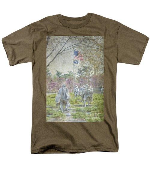 Korean War Veterans Memorial Washington Dc Beautiful Unique   Men's T-Shirt  (Regular Fit) by David Zanzinger