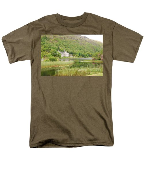 Men's T-Shirt  (Regular Fit) featuring the photograph Kylemore Abbey 1 by Mary Carol Story