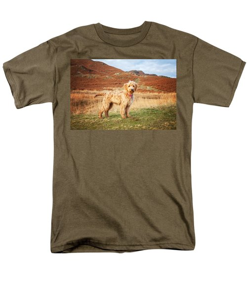 Labradoodle Puppy Men's T-Shirt  (Regular Fit) by Mike Taylor