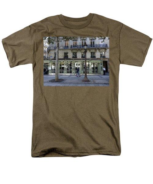 Laderee On The Champs De Elysees In Paris France  Men's T-Shirt  (Regular Fit) by Richard Rosenshein