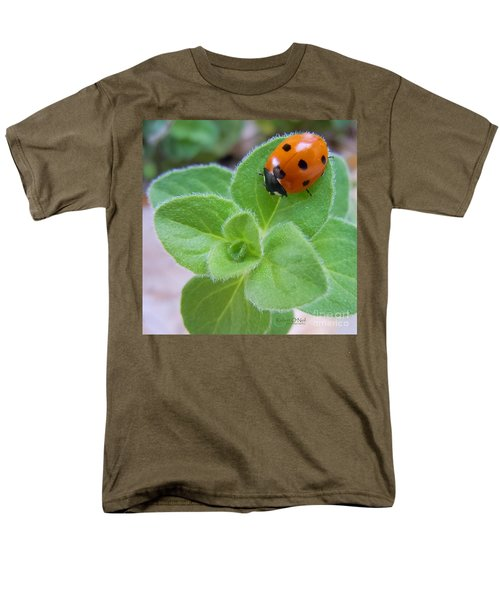 Men's T-Shirt  (Regular Fit) featuring the photograph Ladybug And Oregano by Robert ONeil