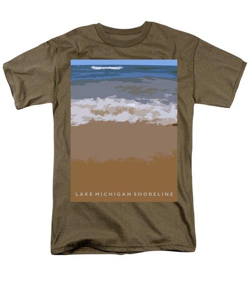 Lake Michigan Shoreline Men's T-Shirt  (Regular Fit) by Michelle Calkins