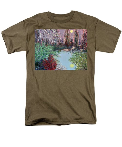 Lake Tranquility Men's T-Shirt  (Regular Fit) by Alys Caviness-Gober