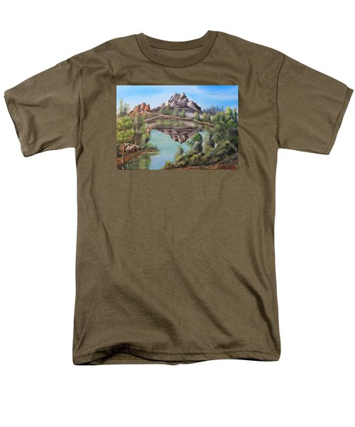 Lakehouse Men's T-Shirt  (Regular Fit) by Remegio Onia