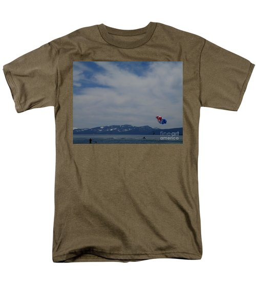 Men's T-Shirt  (Regular Fit) featuring the photograph Parasail Landing by Bobbee Rickard