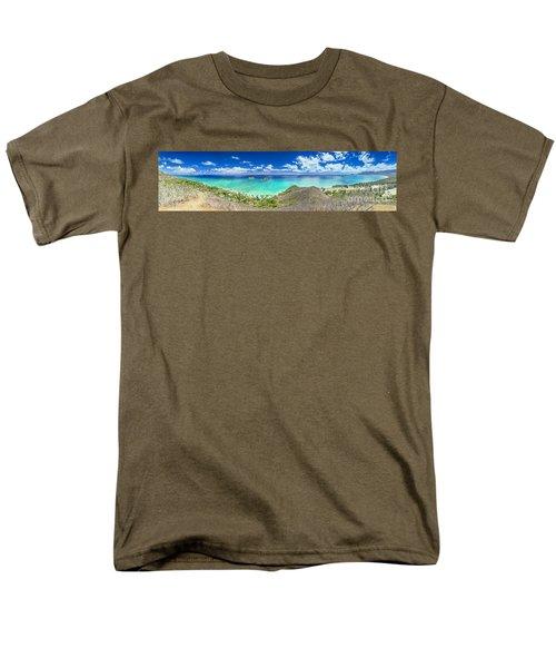 Men's T-Shirt  (Regular Fit) featuring the photograph Lanikai Bellows And Waimanalo Beaches Panorama by Aloha Art