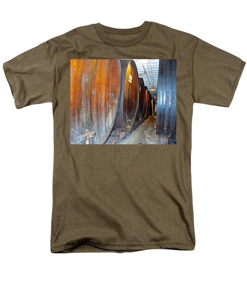 Large Barrels At Korbel Winery In Russian River Valley-ca Men's T-Shirt  (Regular Fit) by Ruth Hager