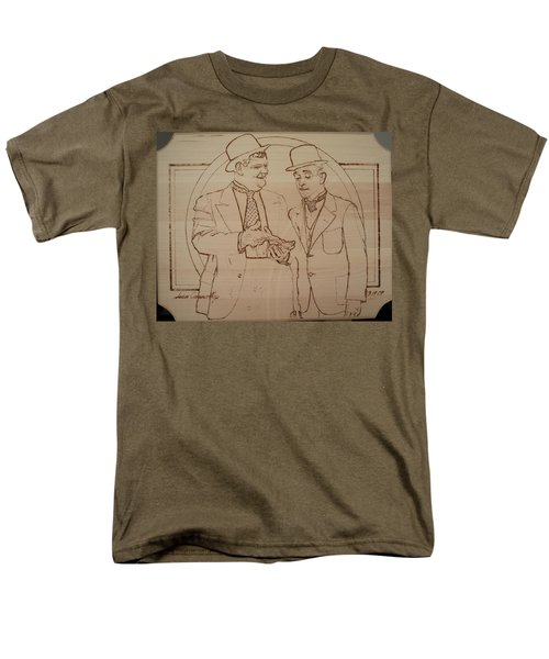 Laurel And Hardy - Thicker Than Water Men's T-Shirt  (Regular Fit) by Sean Connolly