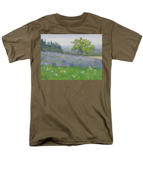 Men's T-Shirt  (Regular Fit) featuring the painting Lavender Afternoon by Karen Ilari