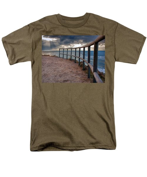 Rail By The Seaside Men's T-Shirt  (Regular Fit) by Mike Santis