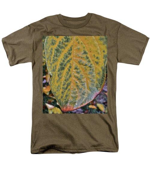 Men's T-Shirt  (Regular Fit) featuring the photograph Leaf After Rain by Bill Owen