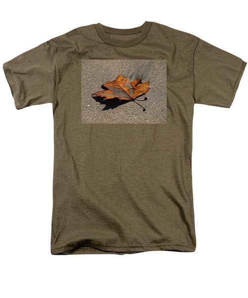 Men's T-Shirt  (Regular Fit) featuring the photograph Leaf Composed by Joe Schofield