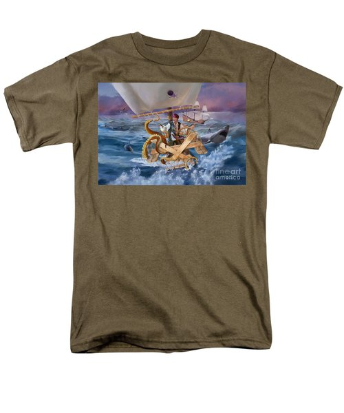 Men's T-Shirt  (Regular Fit) featuring the painting Legendary Pirate by Rob Corsetti