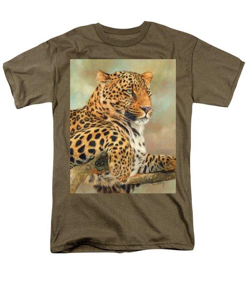 Leopard Men's T-Shirt  (Regular Fit) by David Stribbling