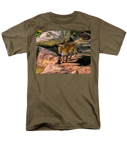 Leopard Men's T-Shirt  (Regular Fit) by Michael Pickett