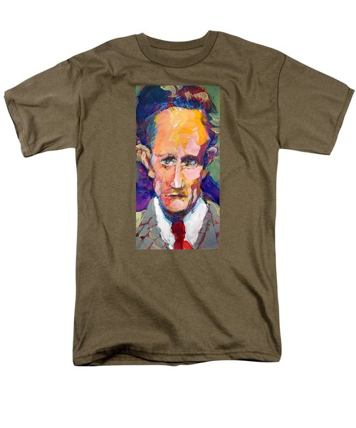 Men's T-Shirt  (Regular Fit) featuring the painting Leslie Howard by Les Leffingwell