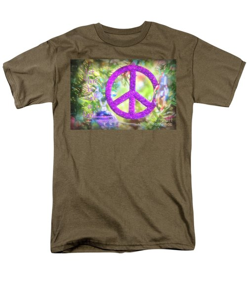 Let There Be Peace On Earth Men's T-Shirt  (Regular Fit) by Peggy Hughes