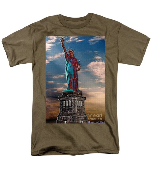 Men's T-Shirt  (Regular Fit) featuring the photograph Liberty For All by Luther Fine Art
