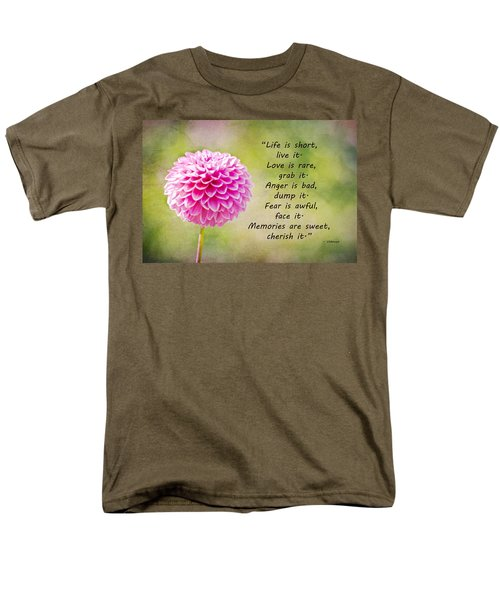 Life Is Short Men's T-Shirt  (Regular Fit) by Trish Tritz