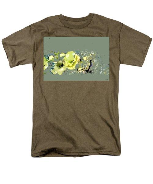 Men's T-Shirt  (Regular Fit) featuring the digital art Lily Pads - Deconstructed by Lauren Radke