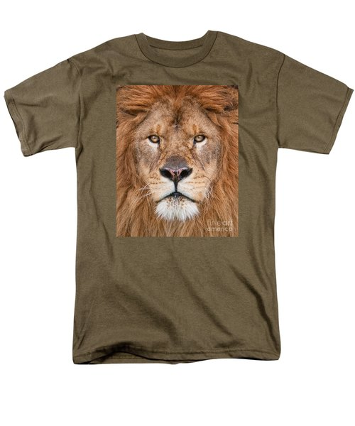 Lion Close Up Men's T-Shirt  (Regular Fit) by Jerry Fornarotto