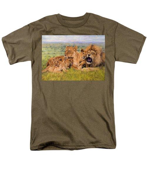 Lion Family Men's T-Shirt  (Regular Fit) by David Stribbling