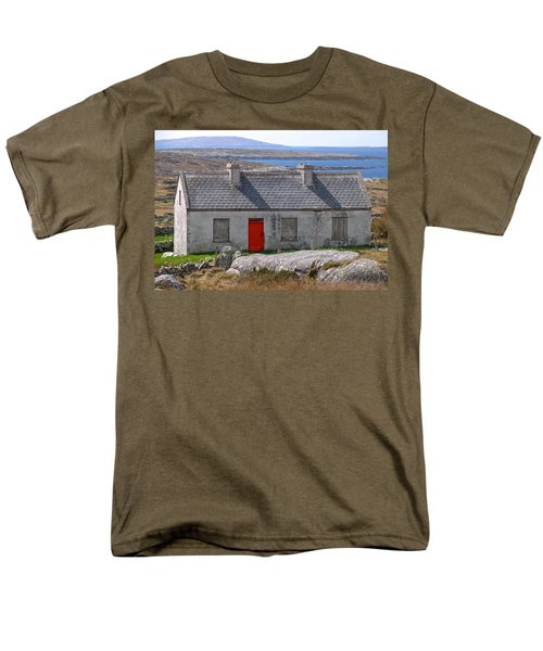 Men's T-Shirt  (Regular Fit) featuring the photograph Little Red Door II by Suzanne Oesterling