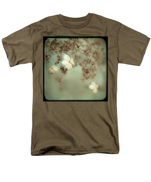Little White Flowers - Floral - The Little Things In Life Men's T-Shirt  (Regular Fit) by Gary Heller